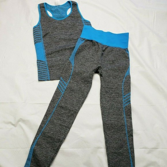 New Mix Other - New Mix Set Racer Back Top Pants Workout Leggings